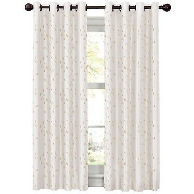 "Maytex Mills Light To Night Jardin Embroidered Thermal Window Curtain, 54"" X 63"