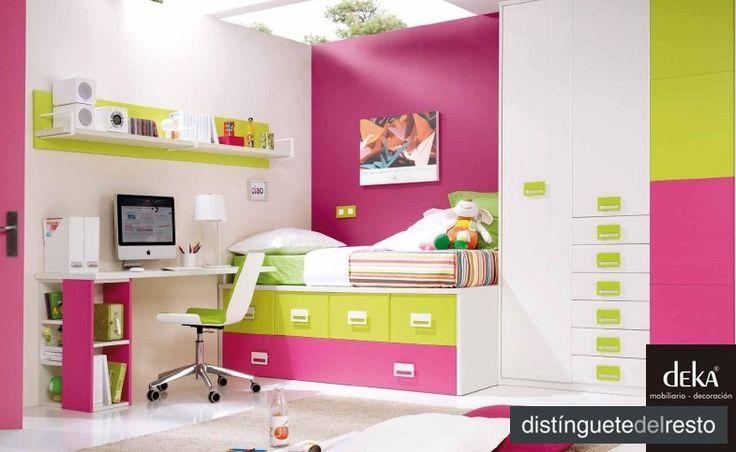 """Dormitorios juveniles con miles de colores, es lo último, combínalos como quieras. Deka """"distinguetedelresto"""""""