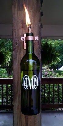 Reciclagem de garrafas na decoração