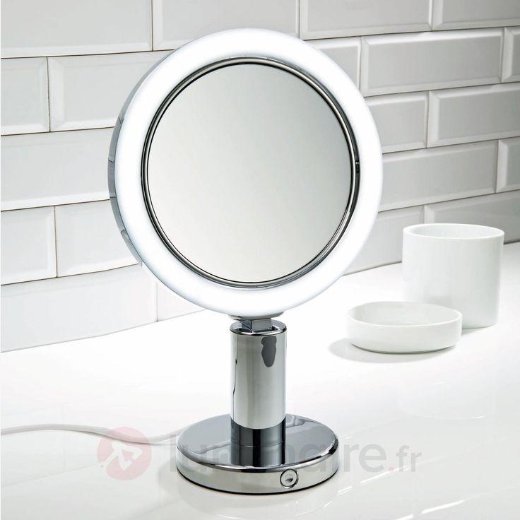 magnifique  miroir sur pied grossissant