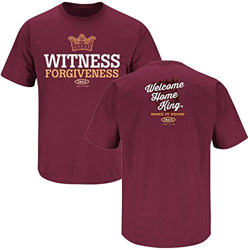 Cleveland Cavaliers Fans. Witness Forgiveness LeBron James Maroon T-Shirt (S-3X)