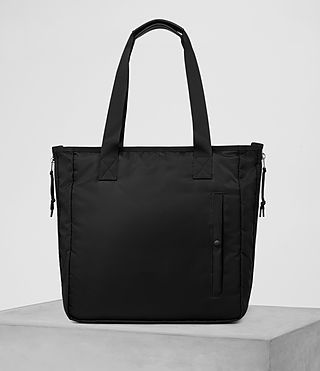 ALLSAINTS CHAMBER NYLON TOTE BAG. #allsaints #bags #tote #leather #lining #hand bags #nylon #cotton #