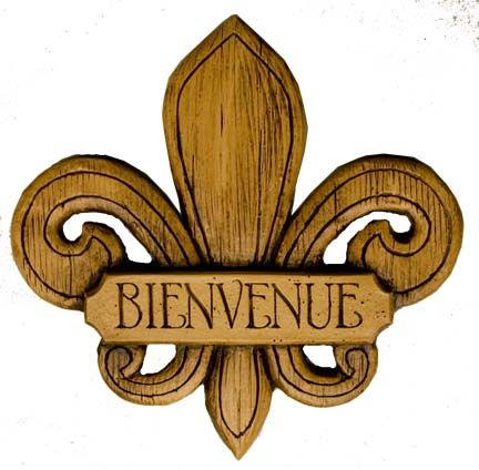Fleur de Lis Wall Decor French Welcome Sign item 580A