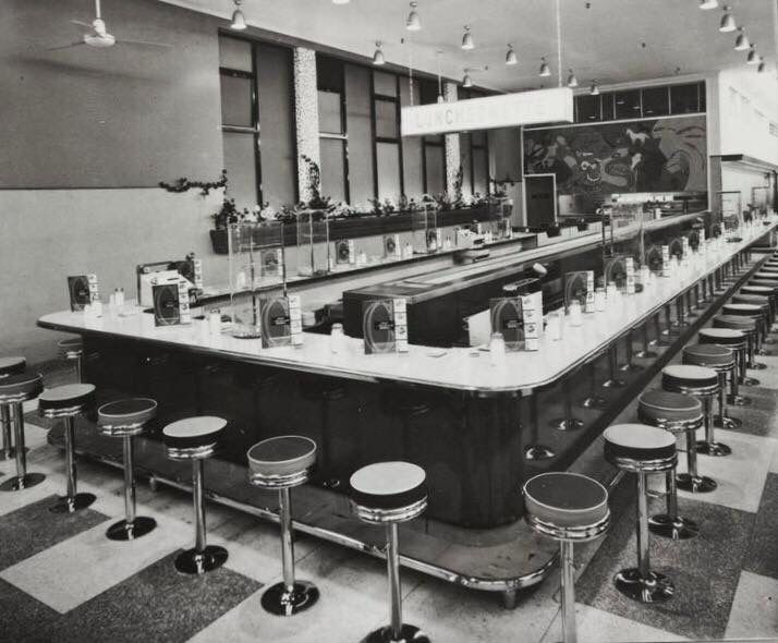 COLES CAFETERIA - I have very fond memories of this place - waiting for waffles and ice cream to arrive by conveyor belt!