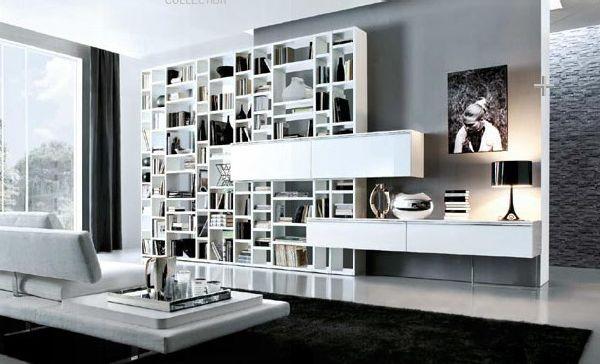 wall storage book shelves design ideas
