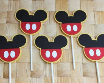 Mickey Mouse Cupcake Toppers by TopperCrazy on Etsy