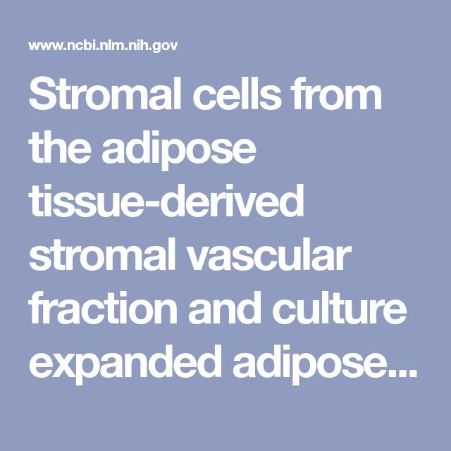 Stromal cells from the adipose tissue-derived stromal vascular fraction and culture expanded adipose tissue-derived stromal/stem cells: a joint state... - PubMed - NCBI