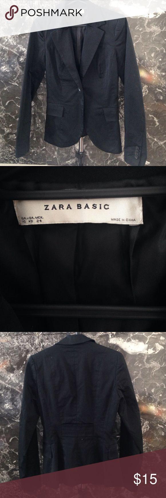 ZARA Basic Cotton Blazer Long, slim fit blazer from ZARA. Xs Zara Jackets & Coats Blazers