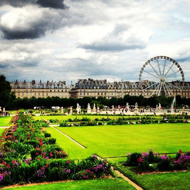 C'est les Jardin des Tuileries! Before checking into our hotel, we will stop in the Jardin des Tuileries. Made in 1564 by Catherine de Medicis, this garden can be called 'the Central Park of Paris'.