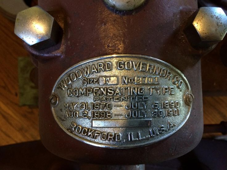 A Woodward Horizontal size F water wheel governor name