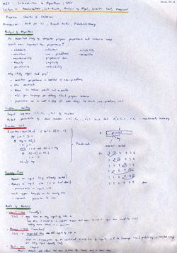 MIT Algorithms Lecture 1 Notes Thumbnail. Page 1 of 2.