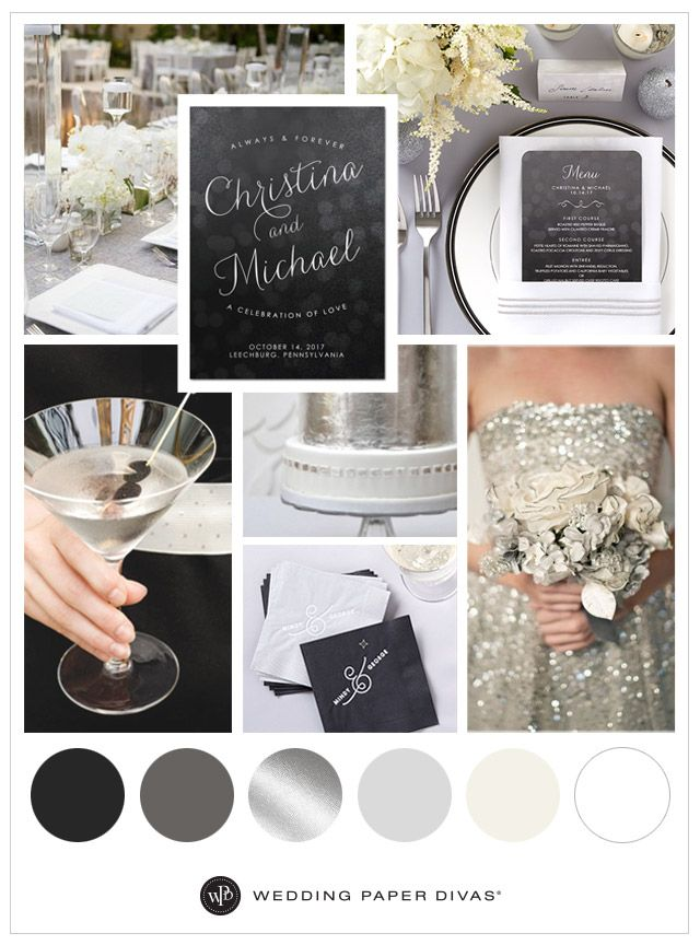 Classic Silver and Black Wedding Ideas 312
