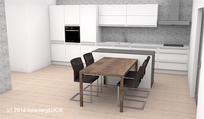 sázka na jistotu v podobě bílo šedé kuchyně
