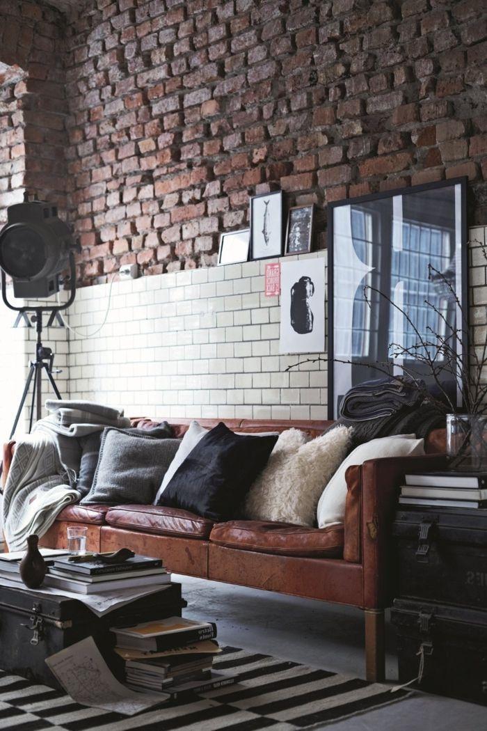 La deco loft new yorkais en 65 images salons deco and loft - Deco loft new yorkais ...