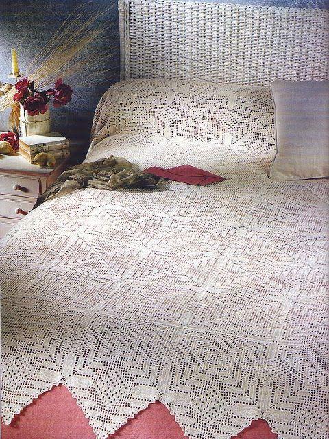 Crochet New-Look' bedspread…. Free pattern