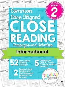2nd Grade Close Reading and Textual Evidence - Information  Just got this and it is AMAZING!  $
