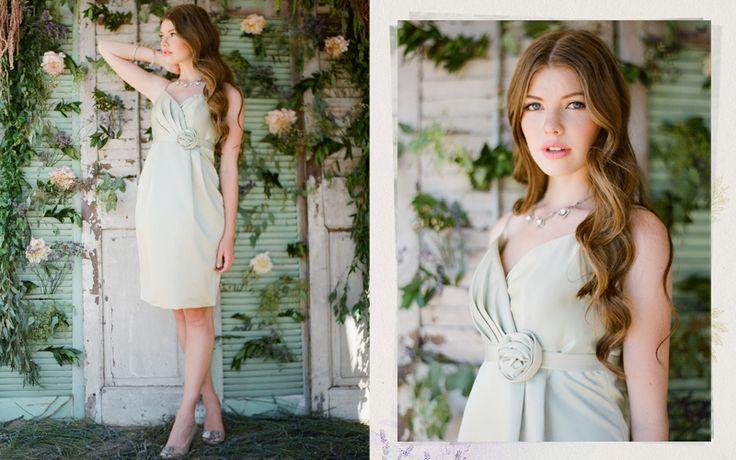 Ruche Fall 2012 Lace & Lavender Wedding Collection Amaryllis Mint Bridesmaids Dress