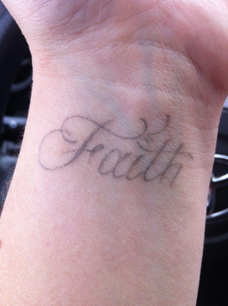 wrist faith word tattoos