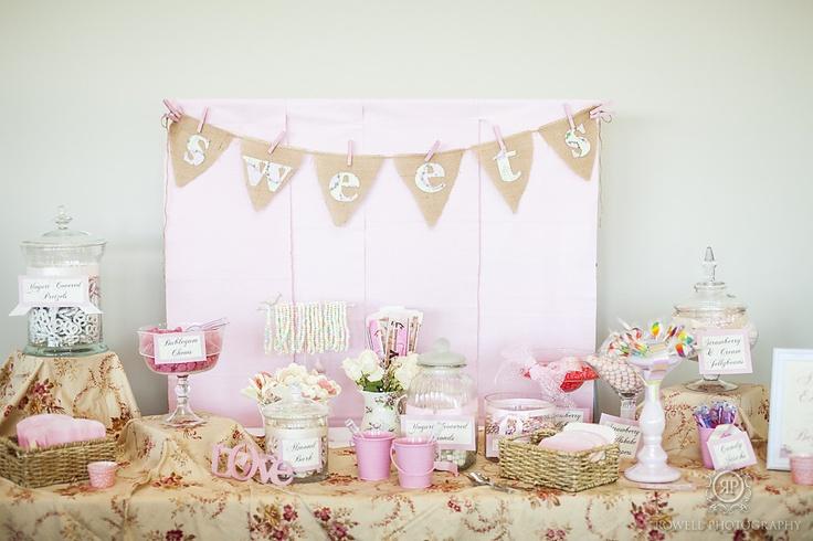 PInk sweets table    Adam & Melissa – Wakefield, Quebec Le Belvedere Wedding