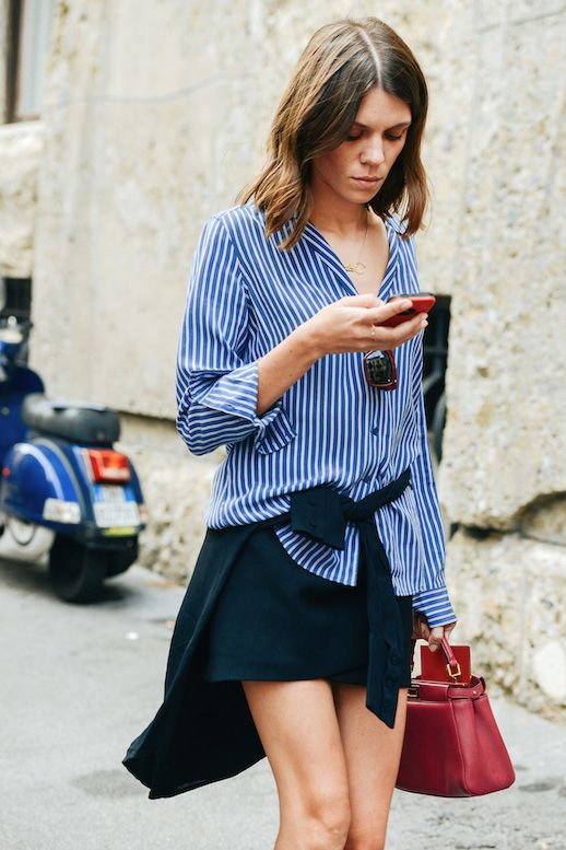 25 Ways To Wear A Striped Button-Down Shirt | Le Fashion | Bloglovin'