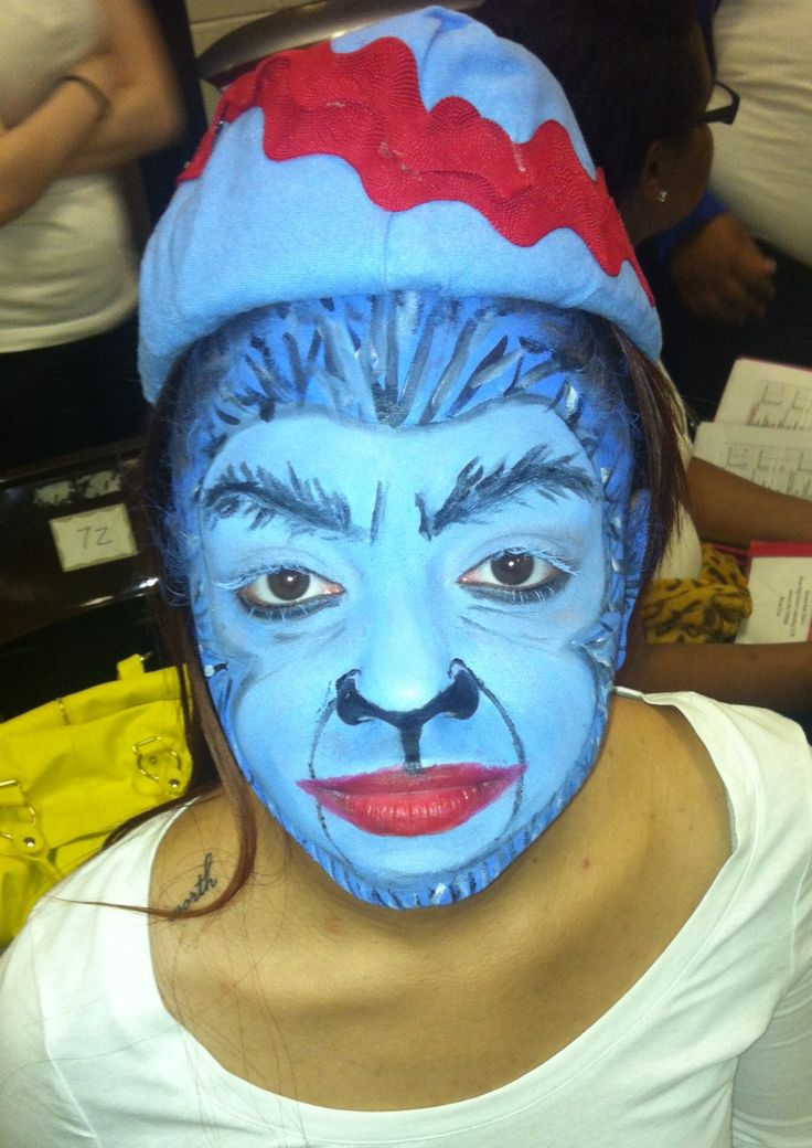 Wizard of Oz flying monkey makeup/painting  by: tobedestined