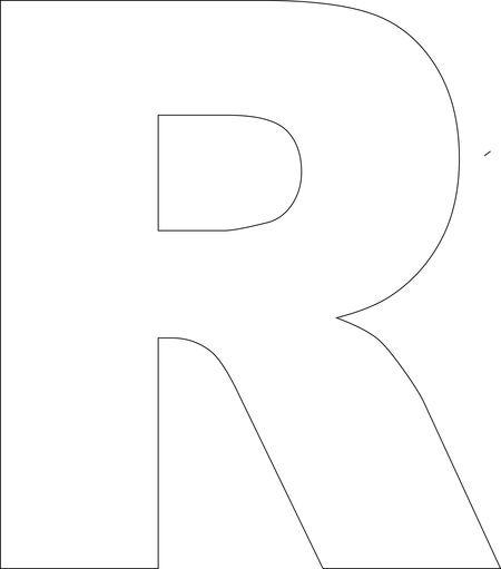 23 best abeceda build a letter templates images on pinterest free printable upper case alphabet template spiritdancerdesigns Choice Image