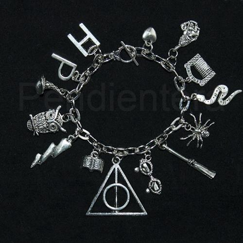 Pulsera conceptual Las reliquias de la muerte, Harry Potter, de J. K. Rowling
