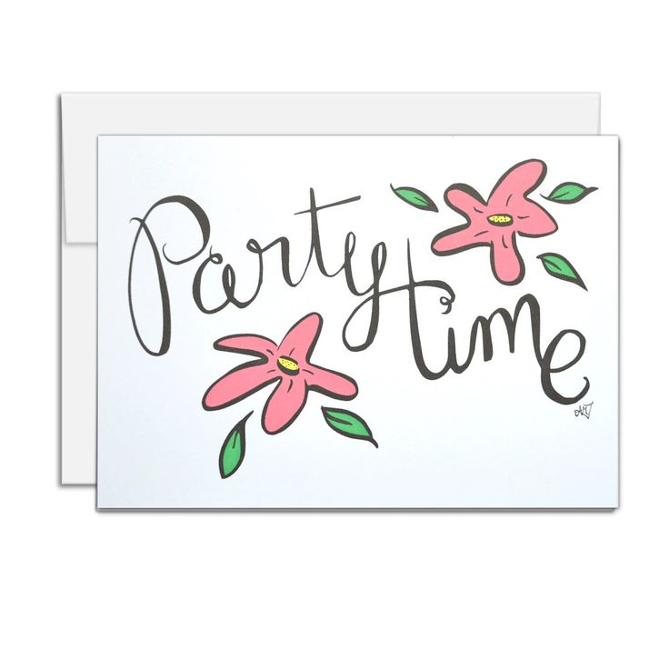 All Occasion Card, Party Time, birthday card, Party Invitation, wedding shower invitation by AMTaylorArt on Etsy https://www.etsy.com/ca/listing/387290052/all-occasion-card-party-time-birthday