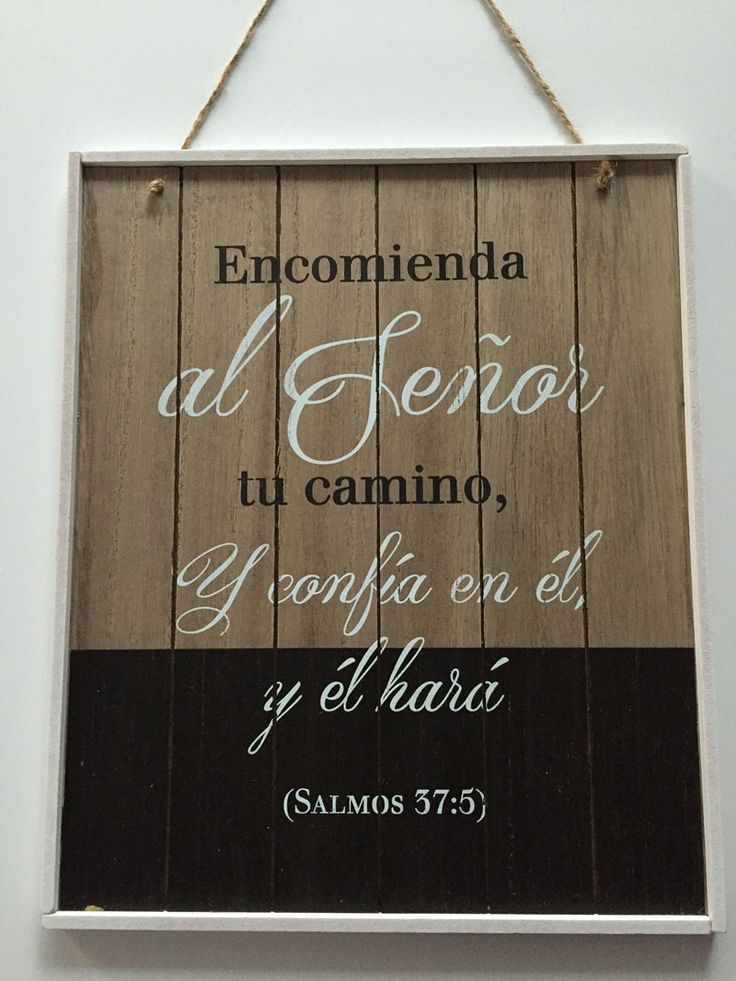 #Cuadro Encomienda al Señor: Cuadro madera #vintage bicolor #regaloscristianos…