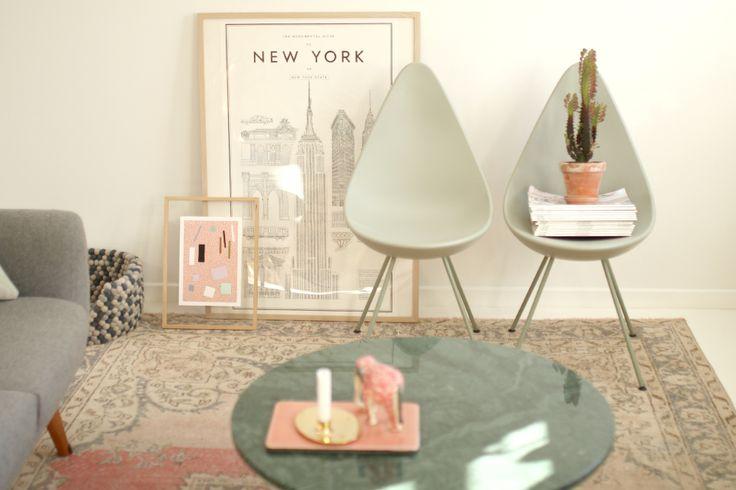 The drop chair, dråbestol, arne jacobsen, SAS hotel, 60s decor, scandinavian style, Ehrenstråhle New York Poster, Eucalyptustræ, eucalyptus tree, giant lightbulb, lyskæde, Ox Denmarq