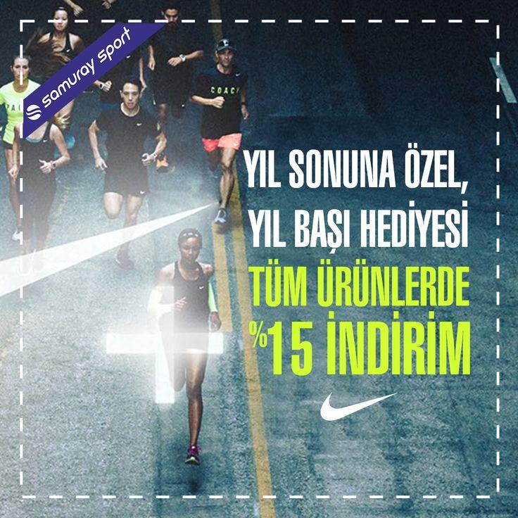 Yıl sonuna özel, yıl başı hediyesi.. Tüm #Nike ürünlerinde %15 indirim..  www.samuraysport.com  #nike #sale #newyear #suprise #indirim #sporgiyim #yeniyıl #2017 #samuraysport