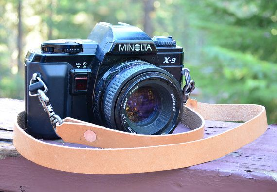 Camera Strap Handmade Personalized Oiled Leather by TahoeMade