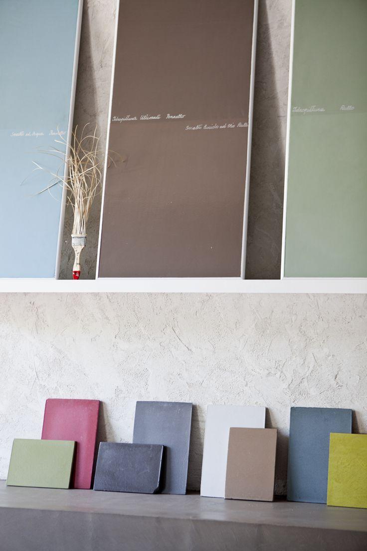 Di che colore lo faccio il muro?  #pitture #campioni #samples  http://www.bludiprussia.com https://www.facebook.com/BludiPrussiaPitture