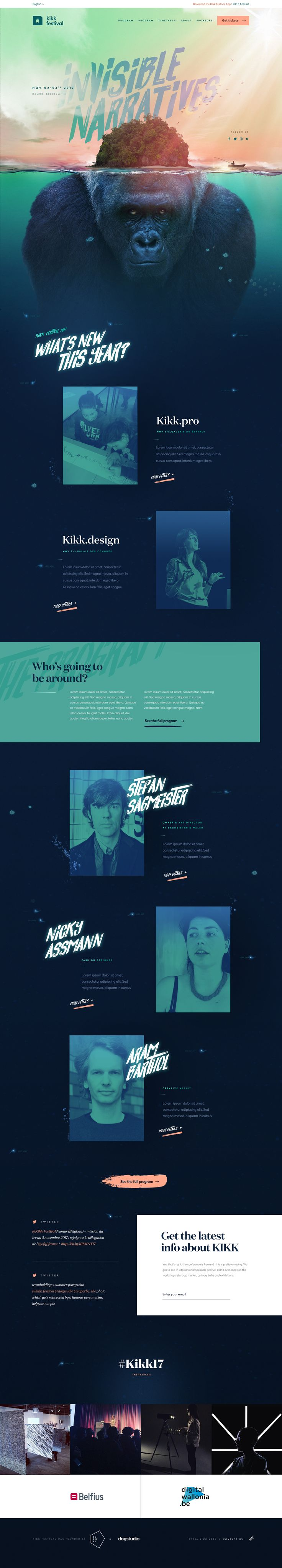 Kikk17 homepage full by dogstudio