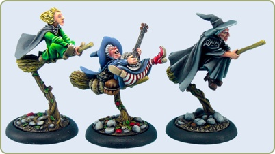 Discworld witches: Granny Weatherwax, Nanny Ogg and Magrat.