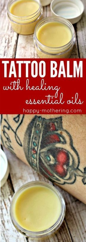 New Tattoo Balm Recipe with Healing Essential Oils