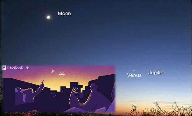 By: Atta Ur Rehman Abbasi Islamabad:  Early tomorrow morning, the planets Venus and Jupiter will pass each other in the sky. Wake up before sunrise to experience this unique moment of wonder. A Cosmic
