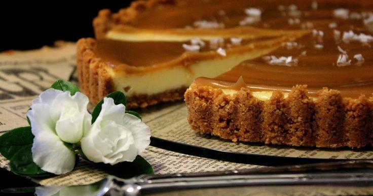 Salted caramel cheesecake-piirakka