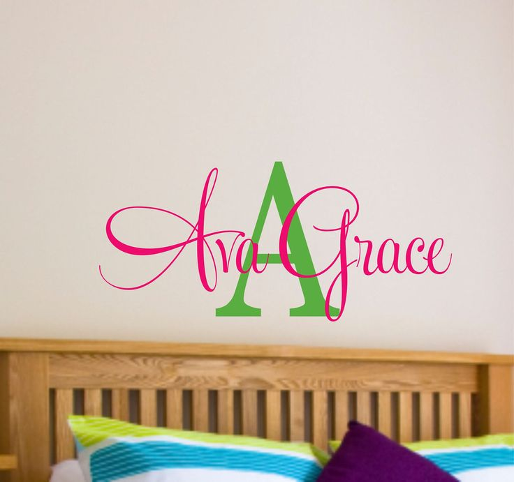 Girls Name Wall Decal Nursery Teen By LucyLews 2000