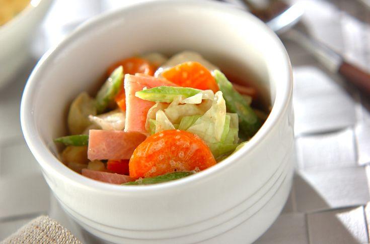 キャベツの明太子マヨサラダのレシピ・作り方 - 簡単プロの料理レシピ   E・レシピ