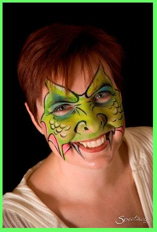 dragon or monster face painting