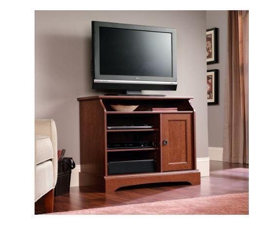 small tv stand wood for flat screens 32 inch sauder graham hill highboy - Sauder Tv Stands