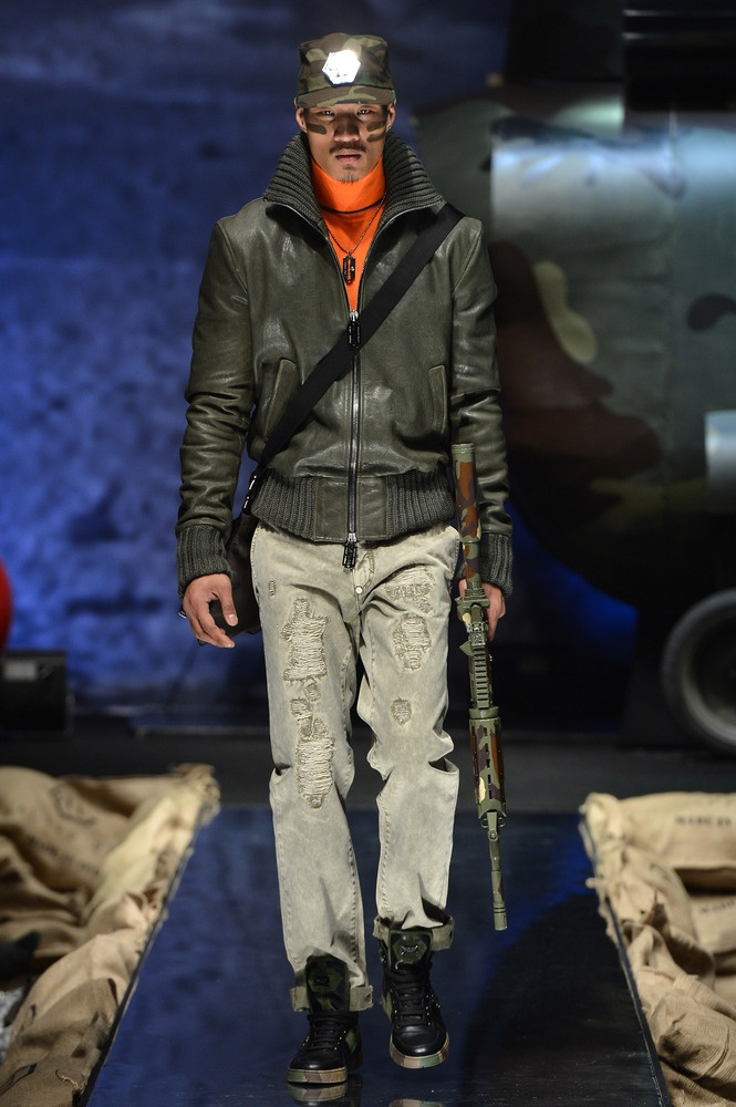 Phillipp Plein's Autumn/Winter 2013 Runway Show | military | inspired menswear