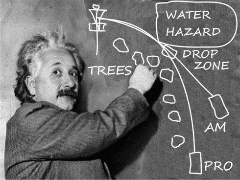 Einstein và bài học về golf