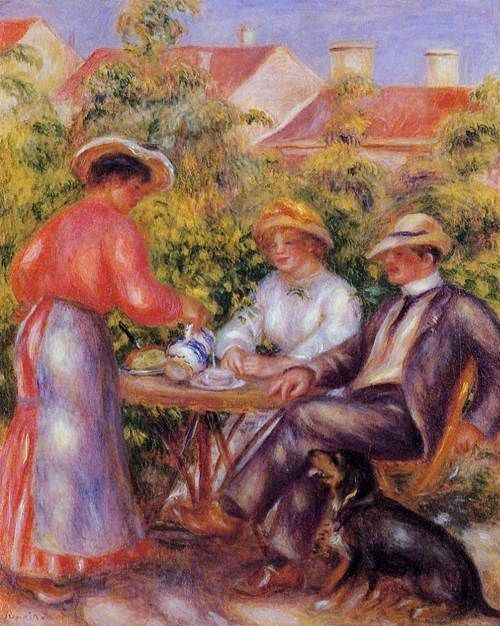 Pierre-Auguste Renoir (French Impressionist Painter, 1841-1919) The Cup Of Tea It's About Time: A Renoir