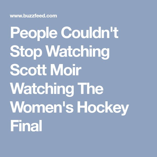 People Couldn't Stop Watching Scott Moir Watching The Women's Hockey Final