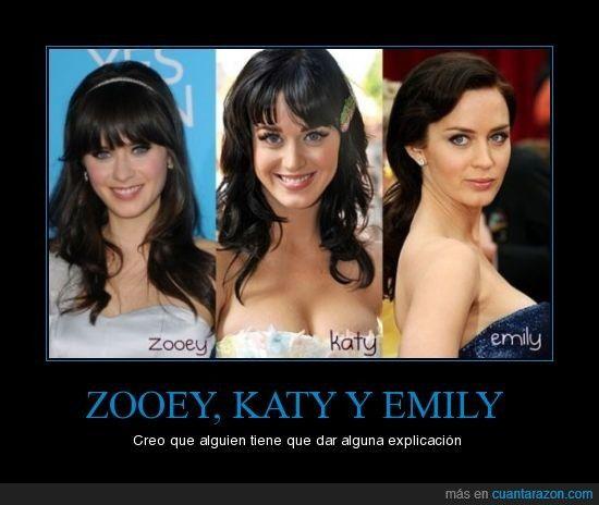 hot katy Zooey deschanel perry