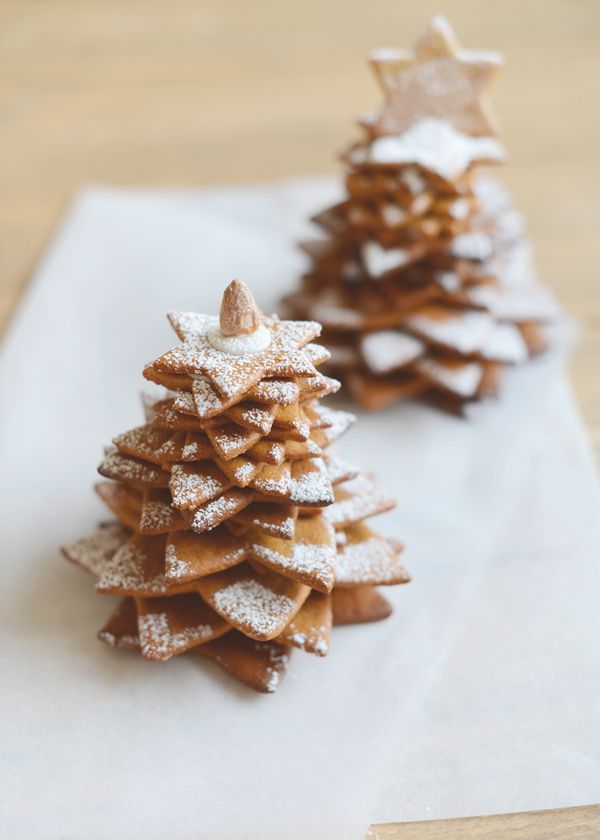 Christmas gingerbread trees
