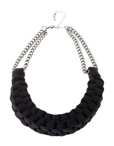 STRADIVARIUS - Necklace with fabric links