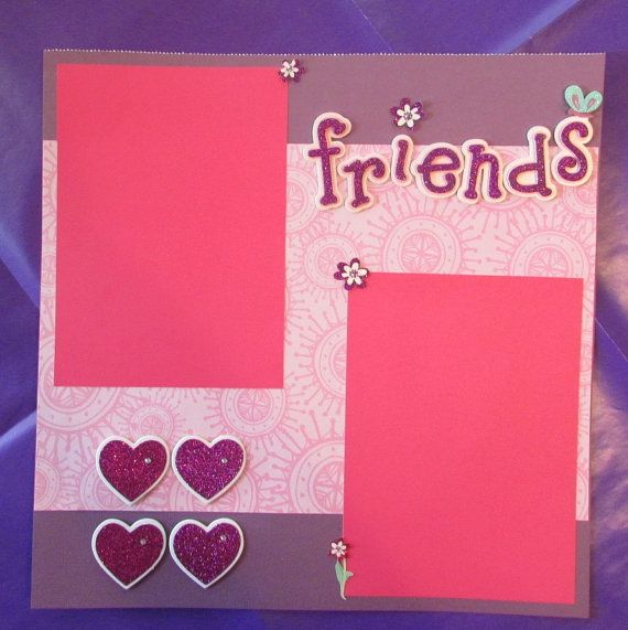 12x12 Friends Scrapbook Page by ButterflyScrapbooks on Etsy, $9.00